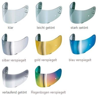 Shoei CW-1 Visier für Qwest