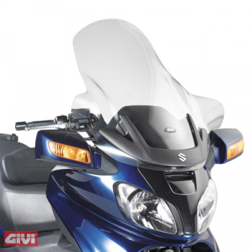 Givi Windschild D257ST klar Suzuki AN 650 Burgman Executive Bj.02-04