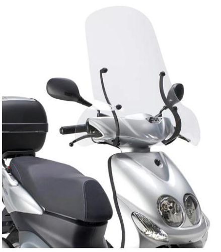 Givi Windschild 102A klar MBK Ovetto 50 08-