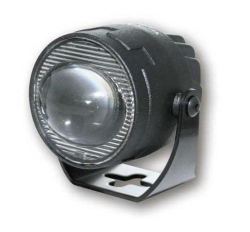 HIGHSIDER LED Abblendscheinwerfer SATELLITE Metall matt schwarzes Alu-Gehäuse