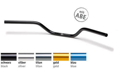 LSL Lenker 22 mm, Naked Bike, Typ A02, Aluminium, 122A002