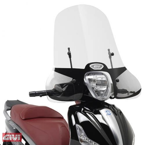 Givi Windschild 5606A klar Piaggio Beverly 125ie-300ie Bj.10-14
