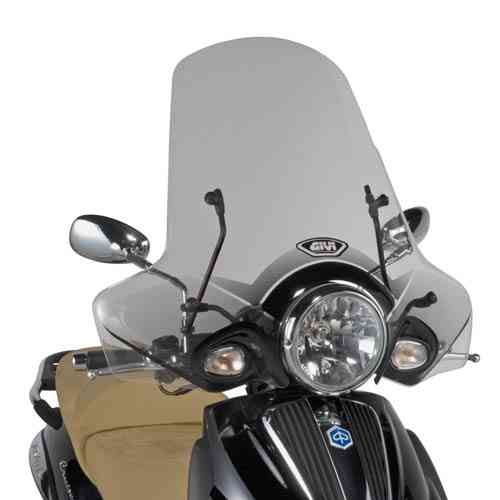 Givi Windschild 352A klar Piaggio Beverly Cruiser 250-500 Bj.07-11